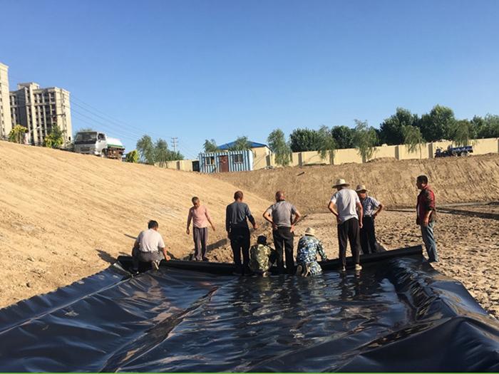 河北黄骅蓄水池防渗土工膜案例